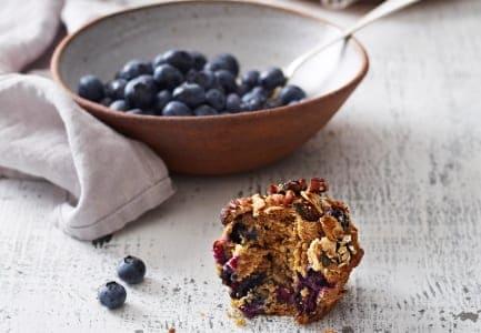 Blueberry Bran & Muesli Muffins