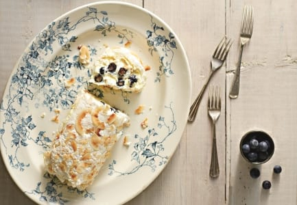 Blueberry & Coconut Roulade