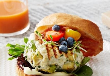 Chicken, Blueberry & Avocado Burgers