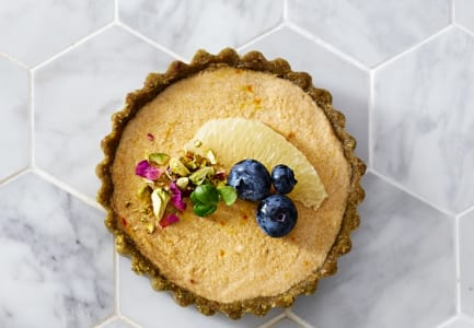 Blueberry & Pistachio tarts