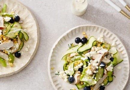 Blueberry & Chicken Griddled Salad