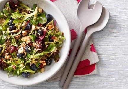 Blueberry, Quinoa & Hazelnut Salad with Balsamic, Maple Dressing