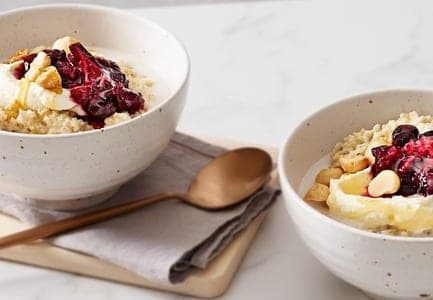 Blueberry & Rhubarb Mixed Grain Porridge