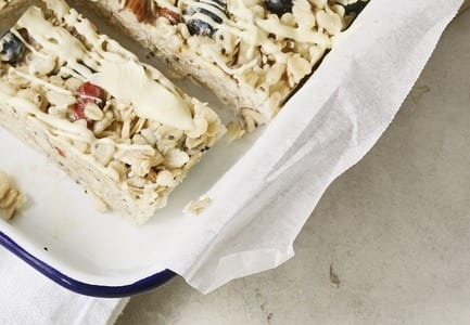 Blueberry and White Chocolate Bars