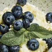 Cool Rice Pudding with Blueberries