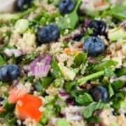 Cos Cuddled Quinoa Blueberry Salad