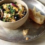 Spiced Freekah, Turkey and Blueberry Salad with Persian Feta