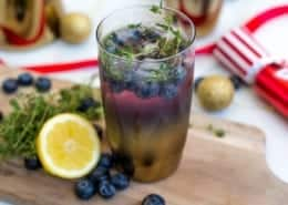 Blueberry & Thyme Cocktail