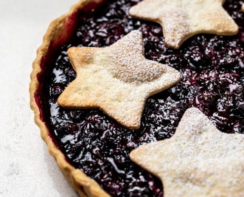 Blueberry Christmas Pie