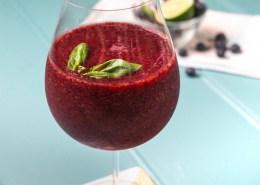 Blueberry Basil Frosè